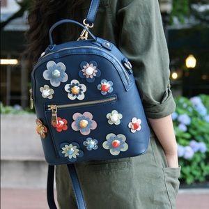 urban expressions blue pop floral backpack vegan